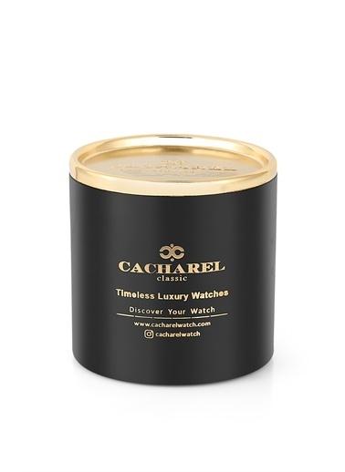 Cacharel Cacharel Chrl40344Se  Deri Kordon Rose Gold Gümüş Kasa Classic Erkek Kol Saati Kahve